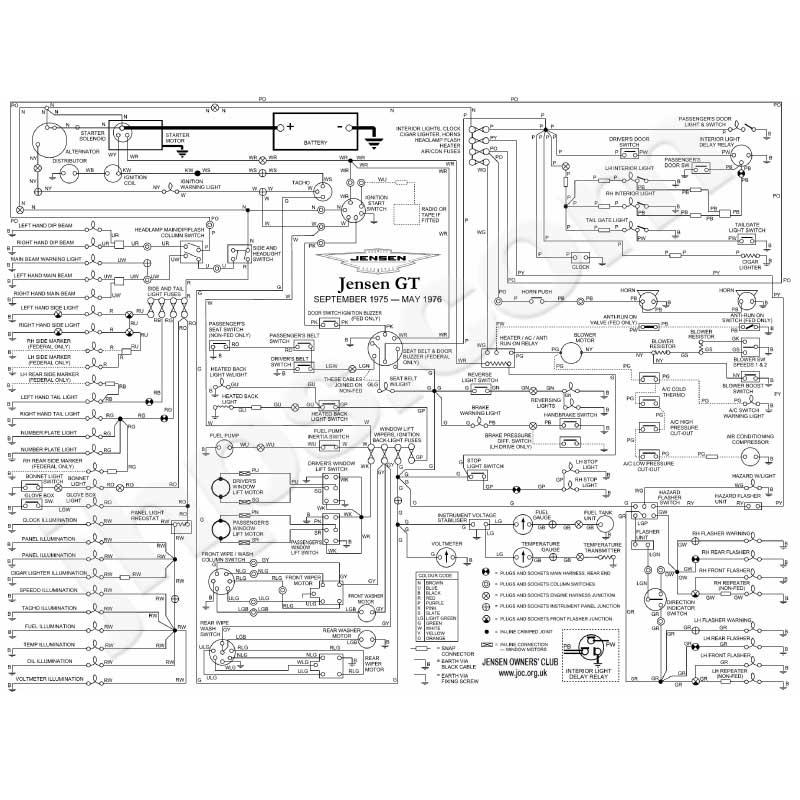 Jensen Gt Wiring Diagram  Jhps